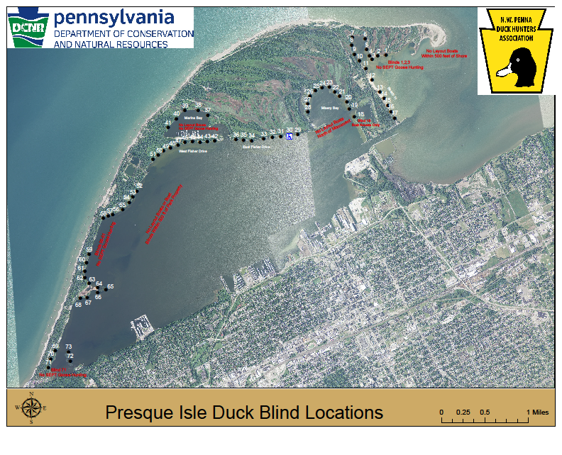 Duck Blinds At Presque Isle State Park